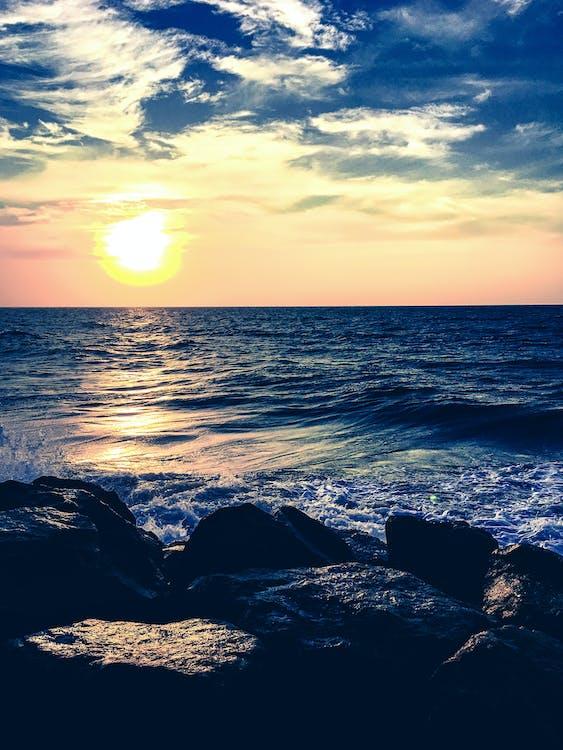horyzont, malowniczy, morze
