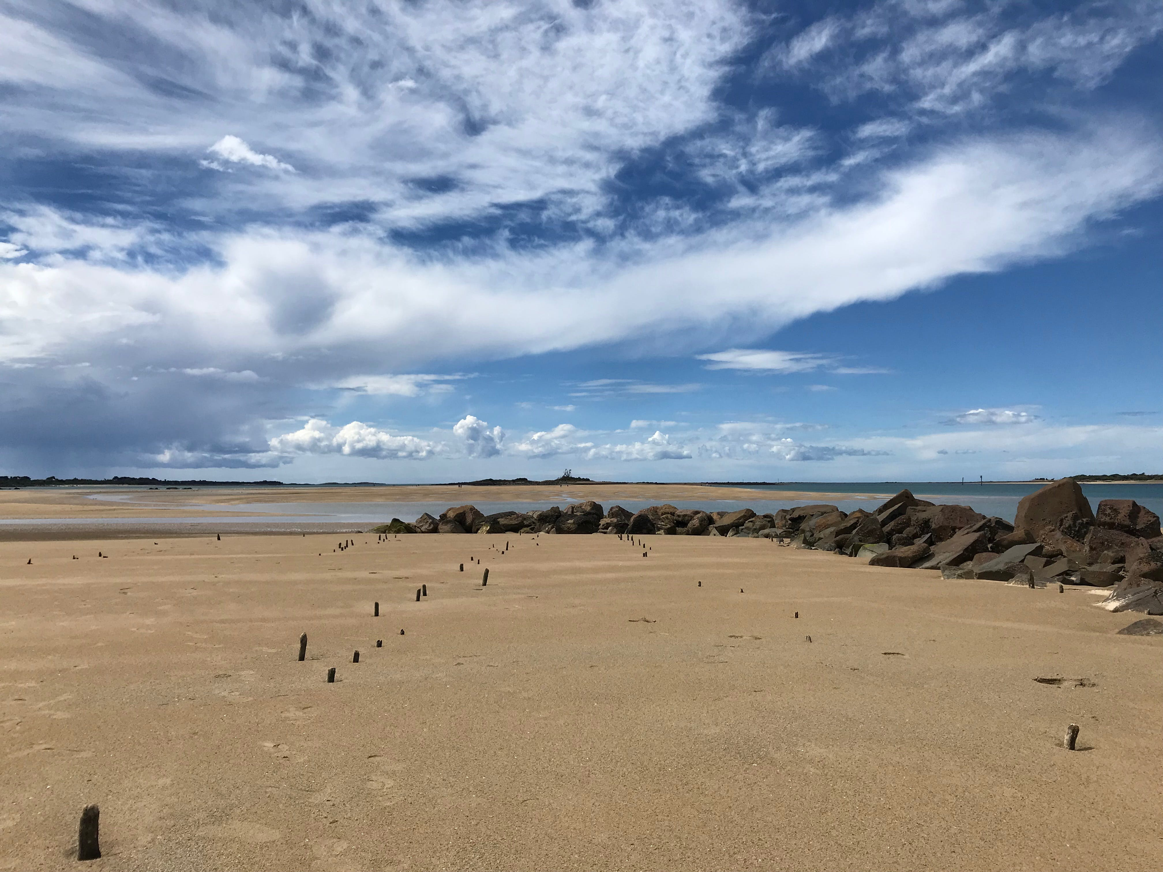 Free stock photo of beach, clouds, summer
