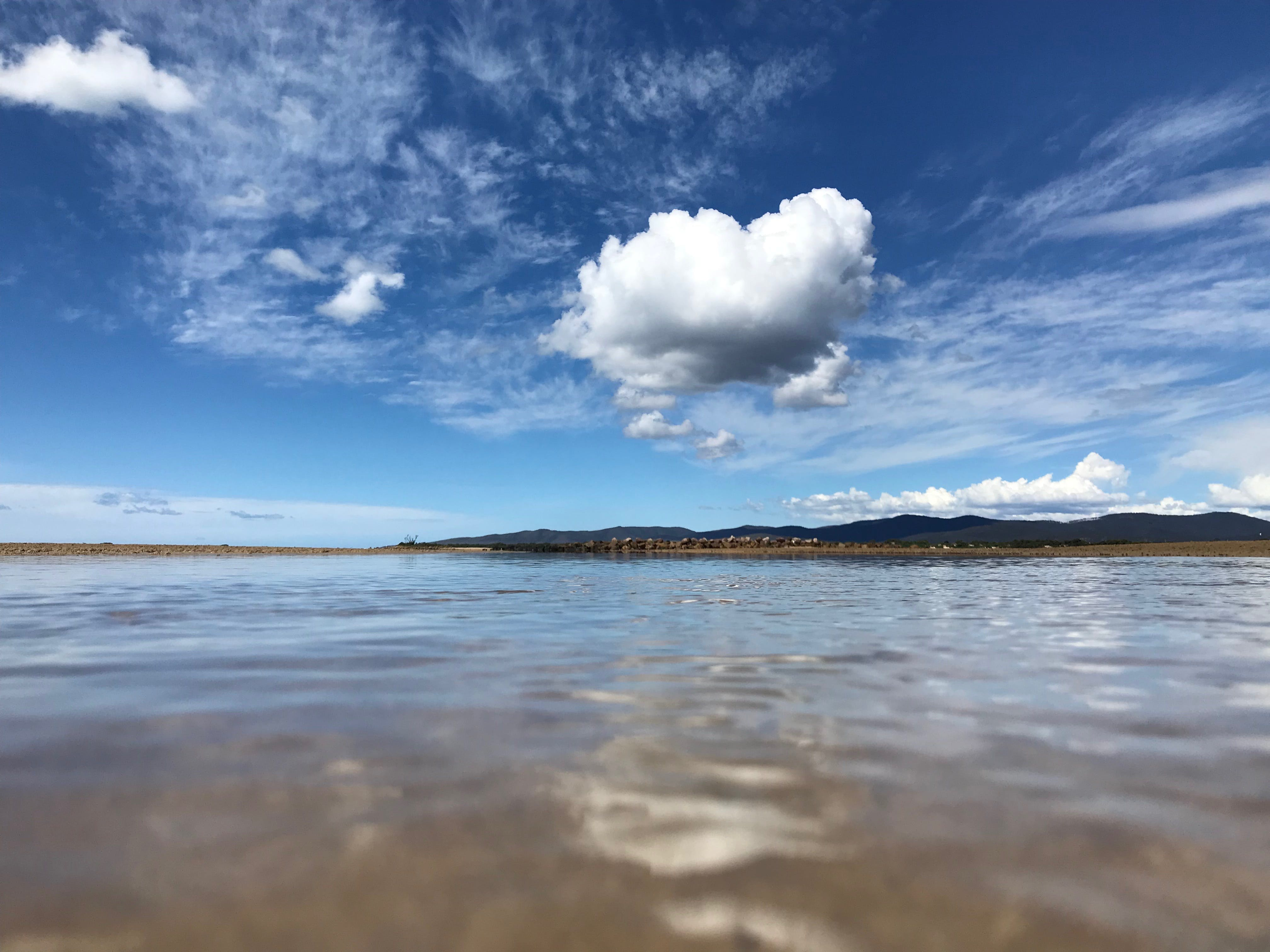 Free stock photo of clouds, reflection, summer