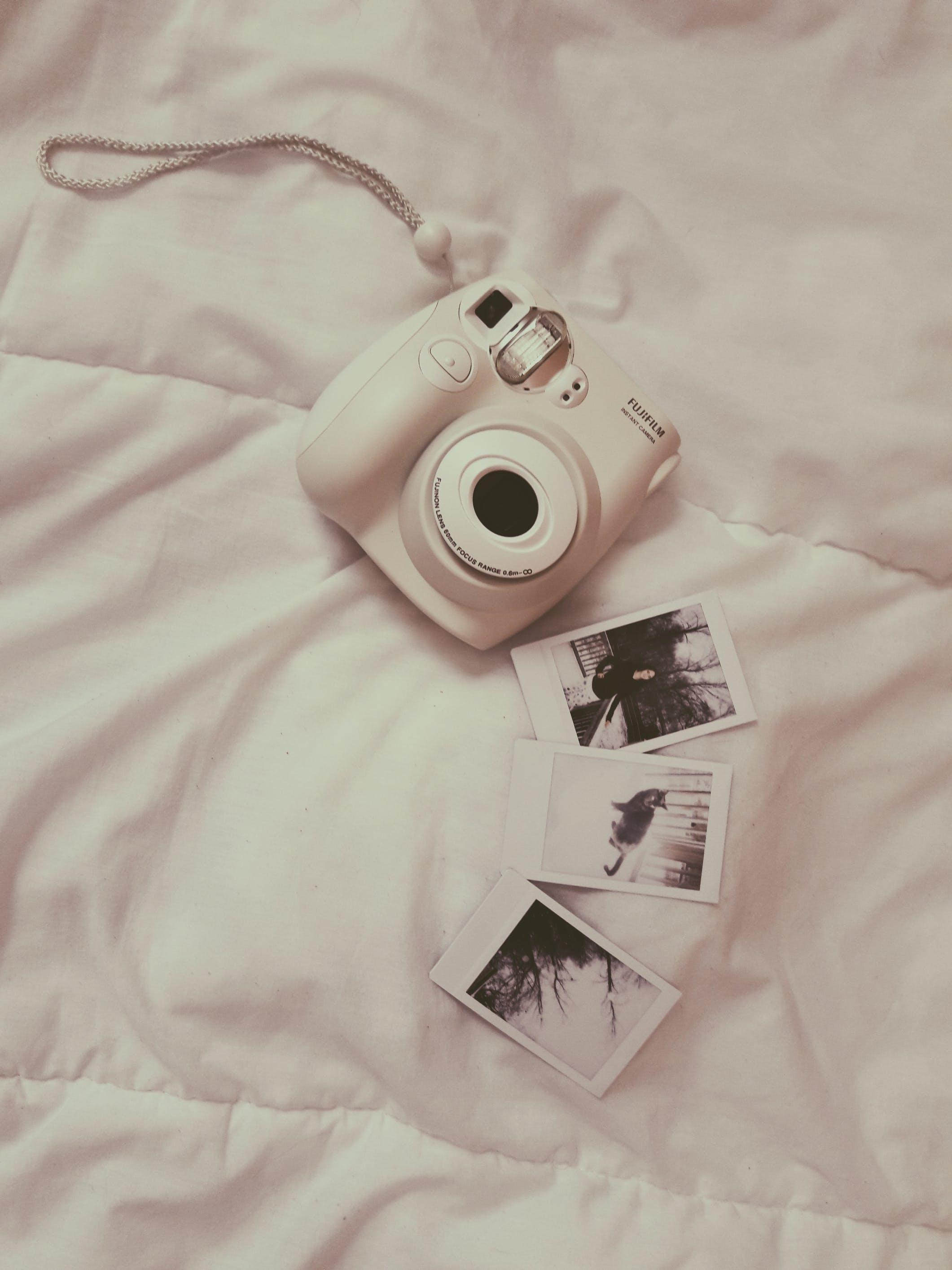 Photo of White Fujifilm Instax Camera