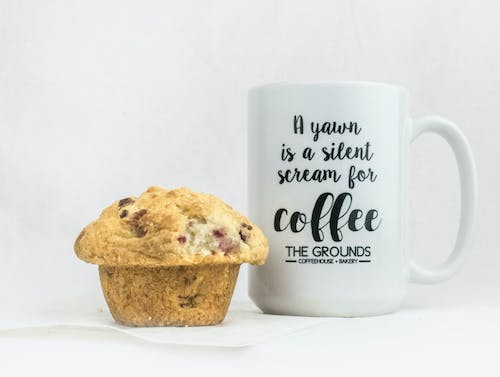 Free stock photo of coffee, combo, muffin