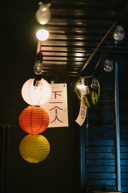 Ingyenes stockfotó fények, húrlámpák, Lámpák témában