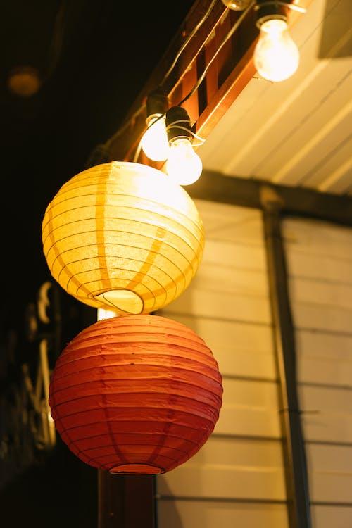 Ingyenes stockfotó fények, függő, húrlámpák témában