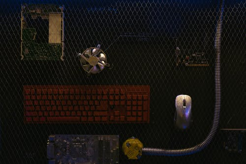 Immagine gratuita di decorazione, fan del computer, mouse del computer