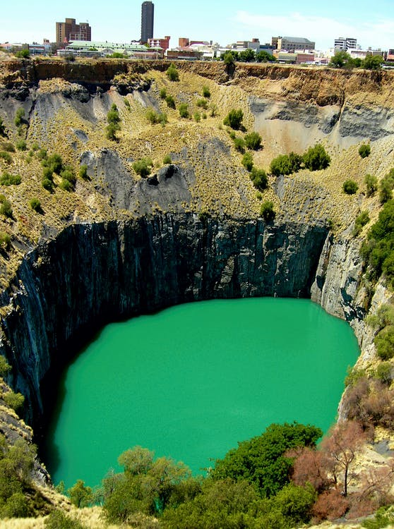 Big Hole Pit Lake in South Africa