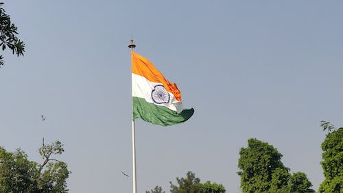 Free stock photo of flags, india, nature, sky