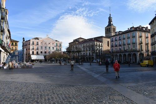 คลังภาพถ่ายฟรี ของ ถนนหิน, ท้องฟ้า, สีน้ำเงิน, สเปน