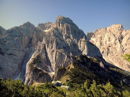 Free stock photo of hut, limestone, mountain range