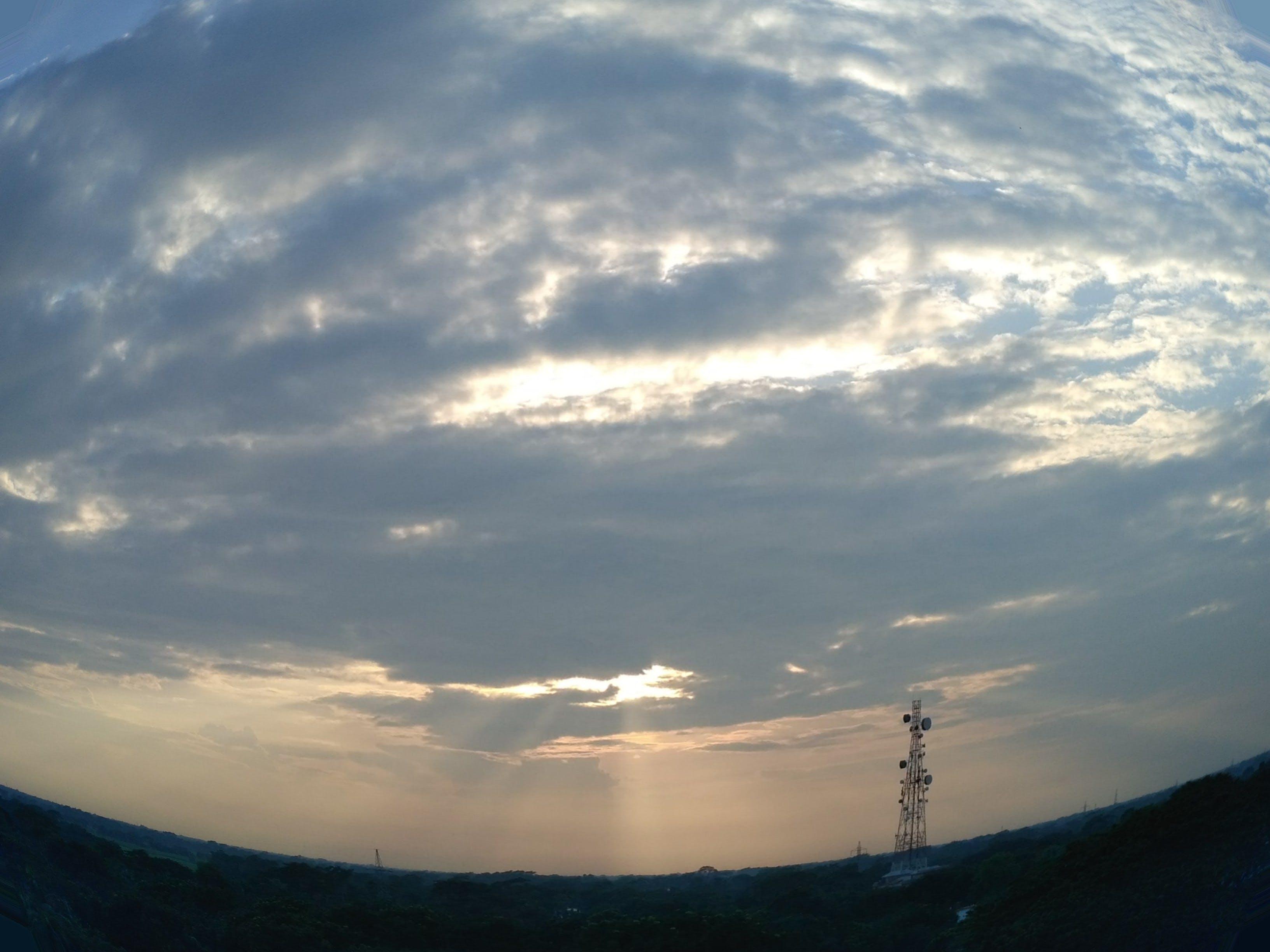 Free stock photo of blue sky, fish eye