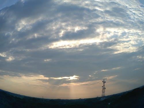 balık gözü, Mavi gökyüzü içeren Ücretsiz stok fotoğraf