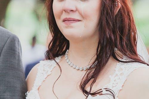 Free stock photo of bride, diamonds, dress, groom