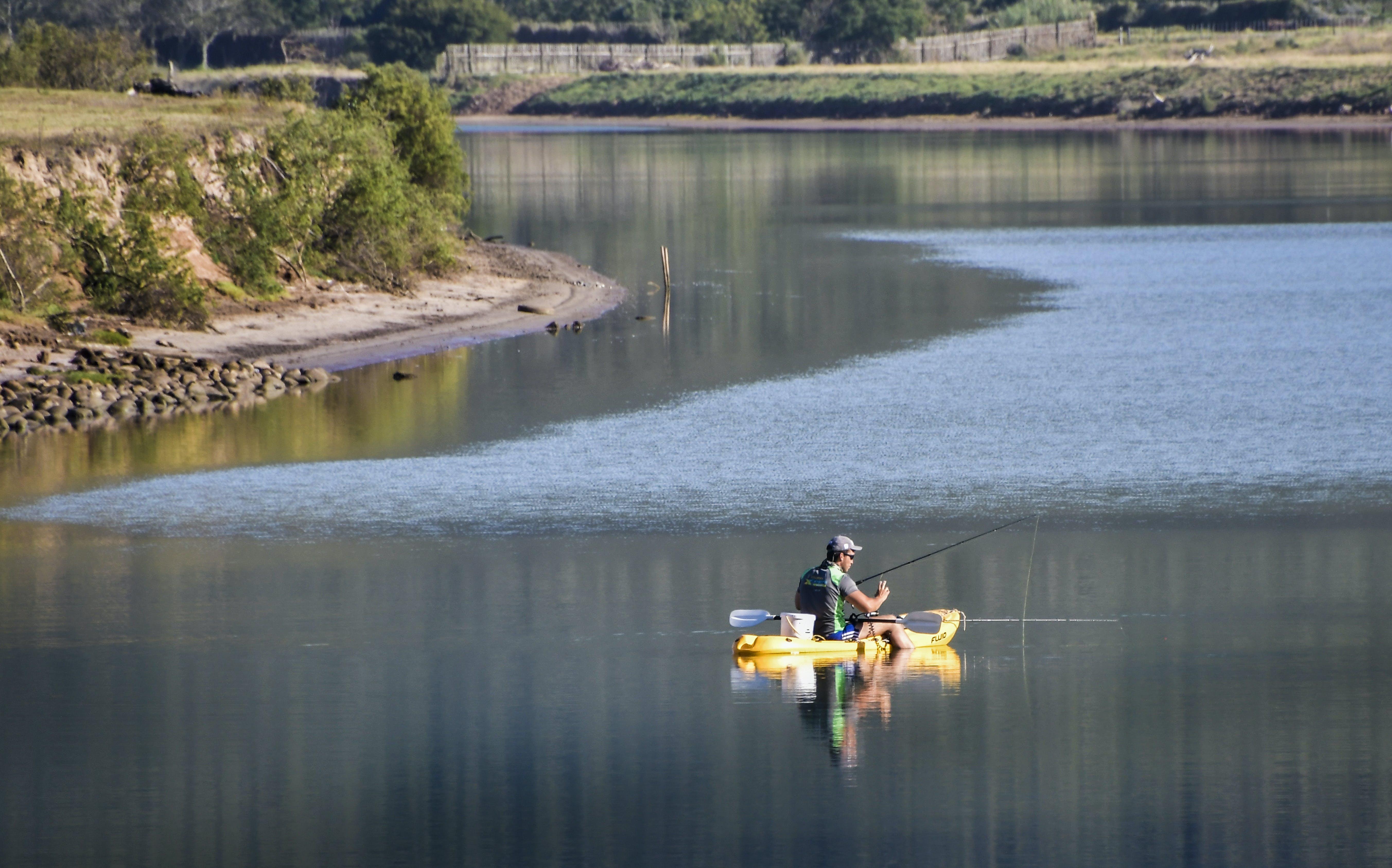 Free stock photo of fisherman, fishing, fishing in river