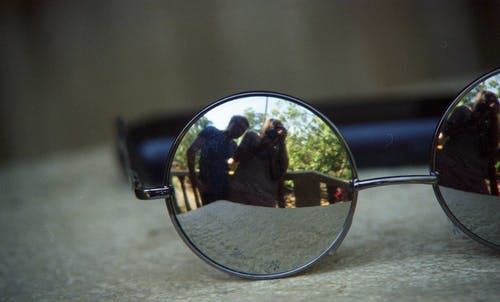 Free stock photo of glass reflection, glasses reflection, reflection, sunglasses