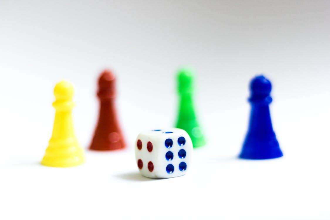 barevný, barvy, desková hra