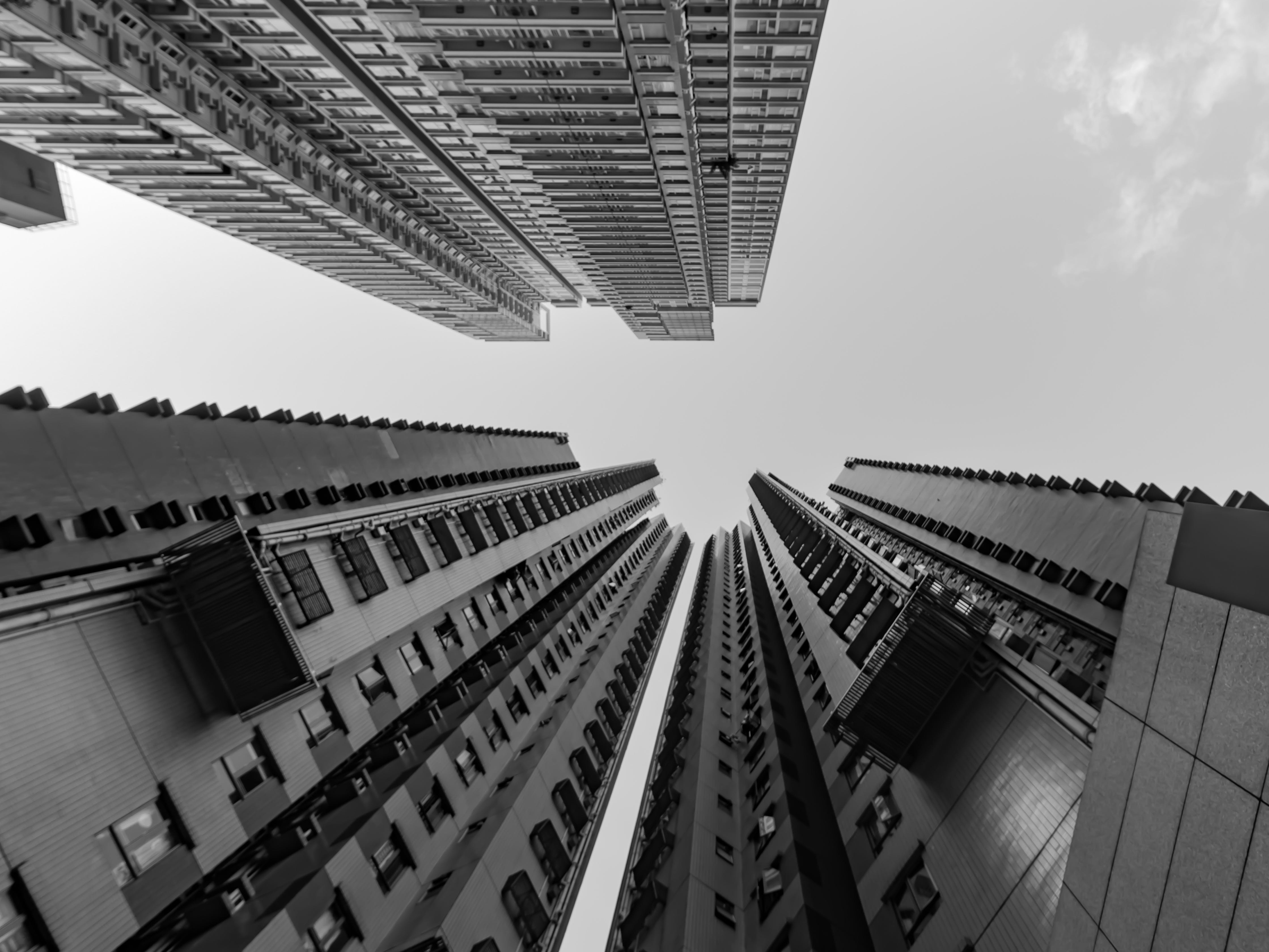 Free stock photo of architecture, black and white, black and-white, building