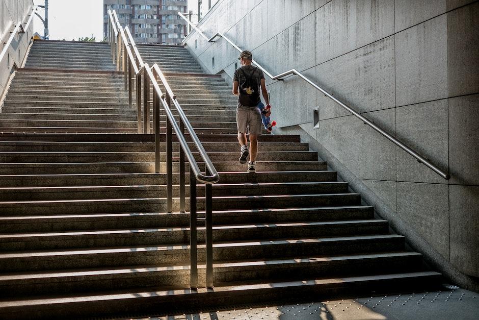 handrail, man, person