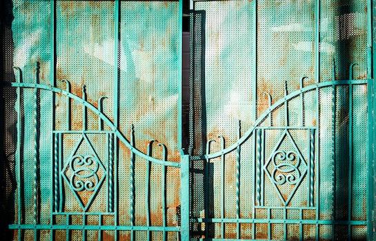White Metal Gate