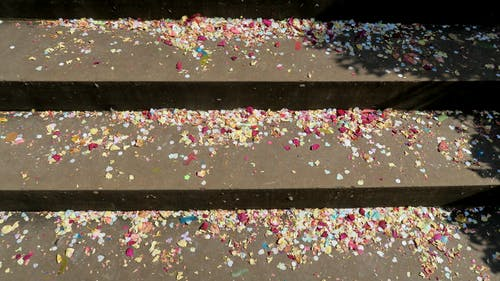 Free stock photo of confetti, party, steps
