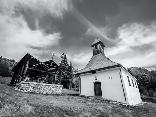 Free stock photo of black, church, cross