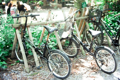 bisiklet, bisiklet park yeri, doğa içeren Ücretsiz stok fotoğraf
