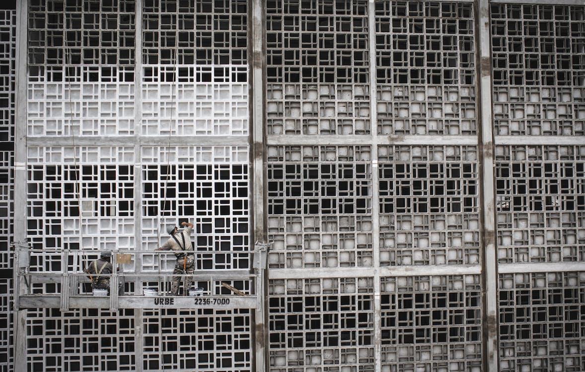 architektura, beton, budynek
