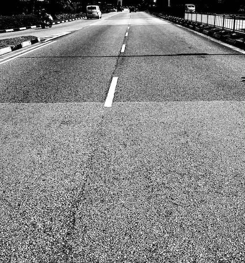 Free stock photo of monochrome photography, road