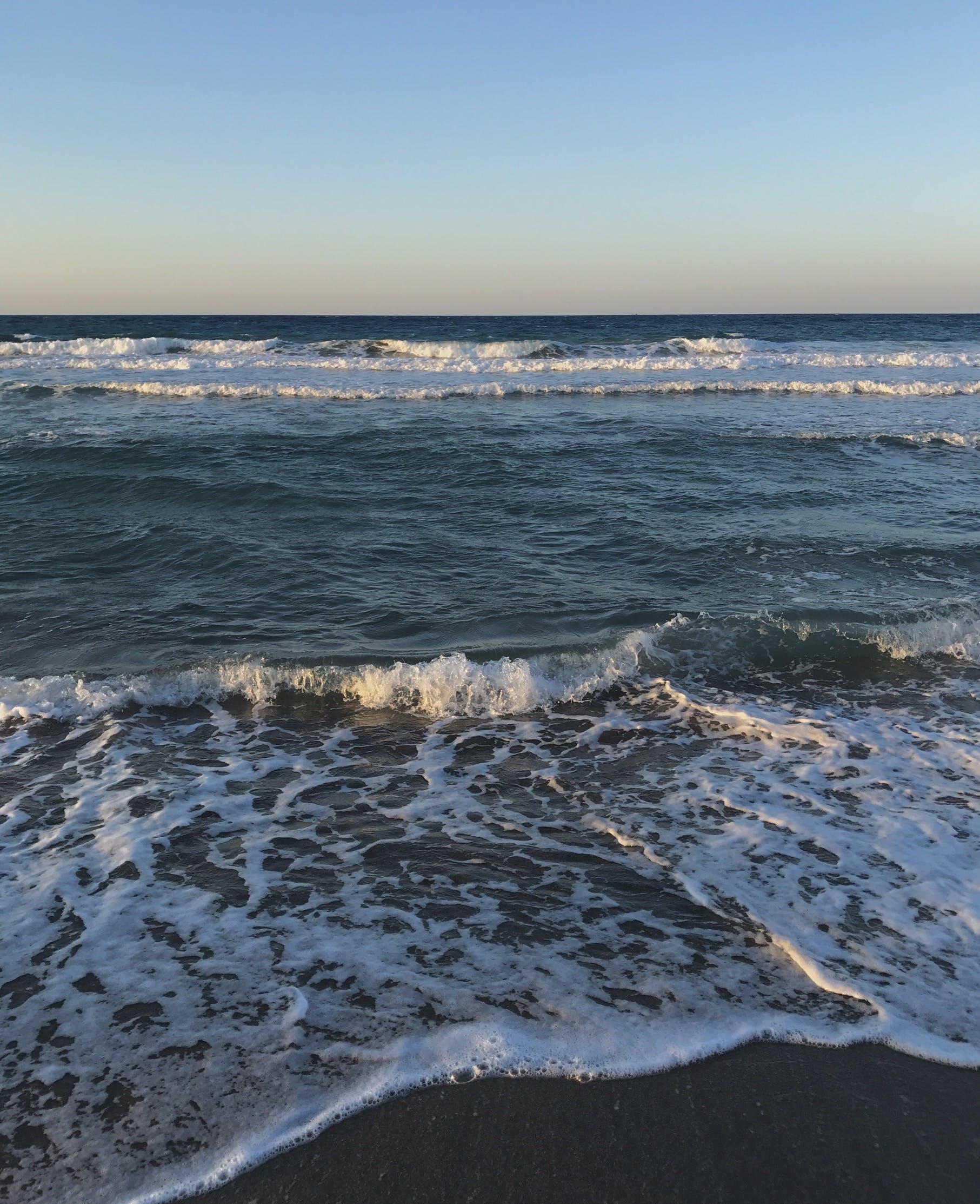 Gratis lagerfoto af blå, dybt hav, solnedgang, sommer
