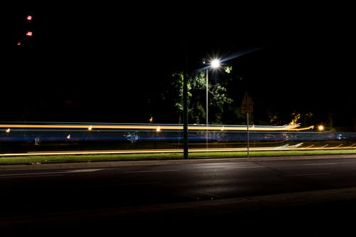 Photo of Black Lamp Post during Nighttime