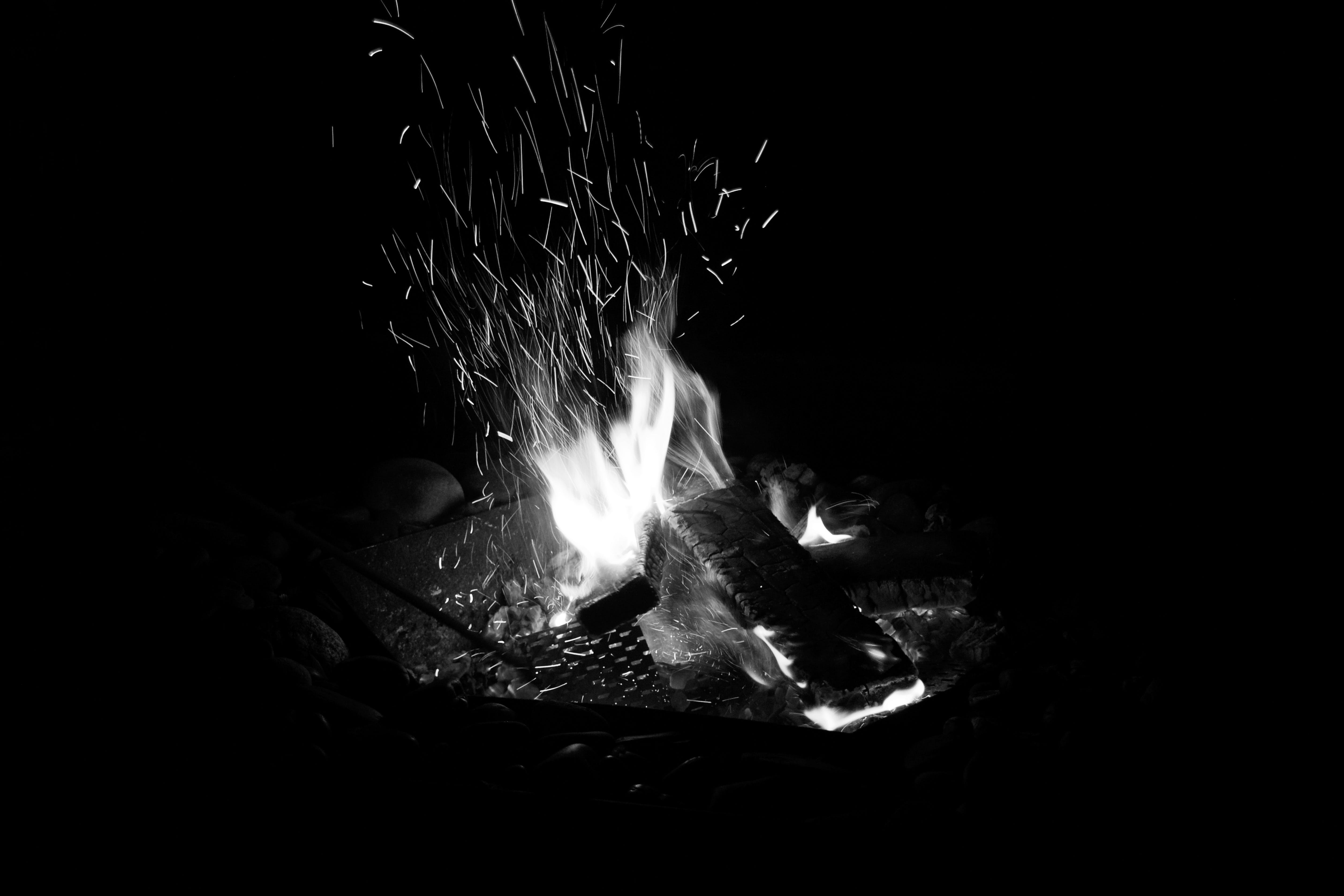 Camping Fire during Nighttime