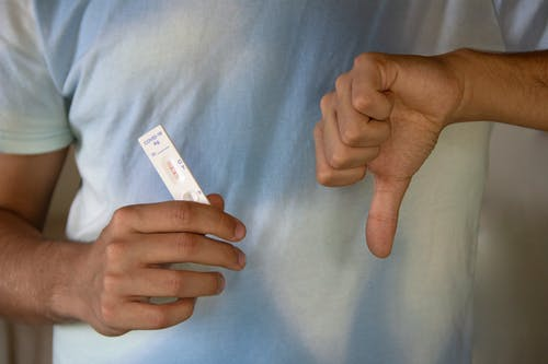 A Person Holding an Antigen Rapid Test Result