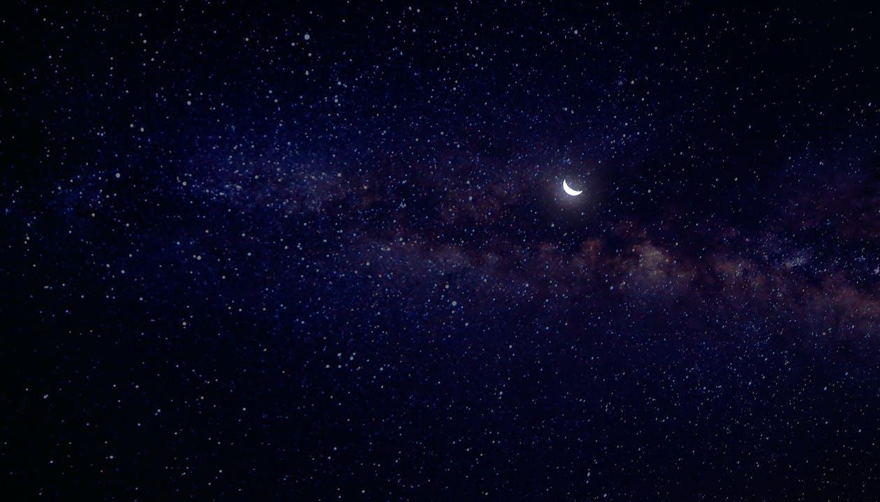 abend, astronomie, beleuchtet