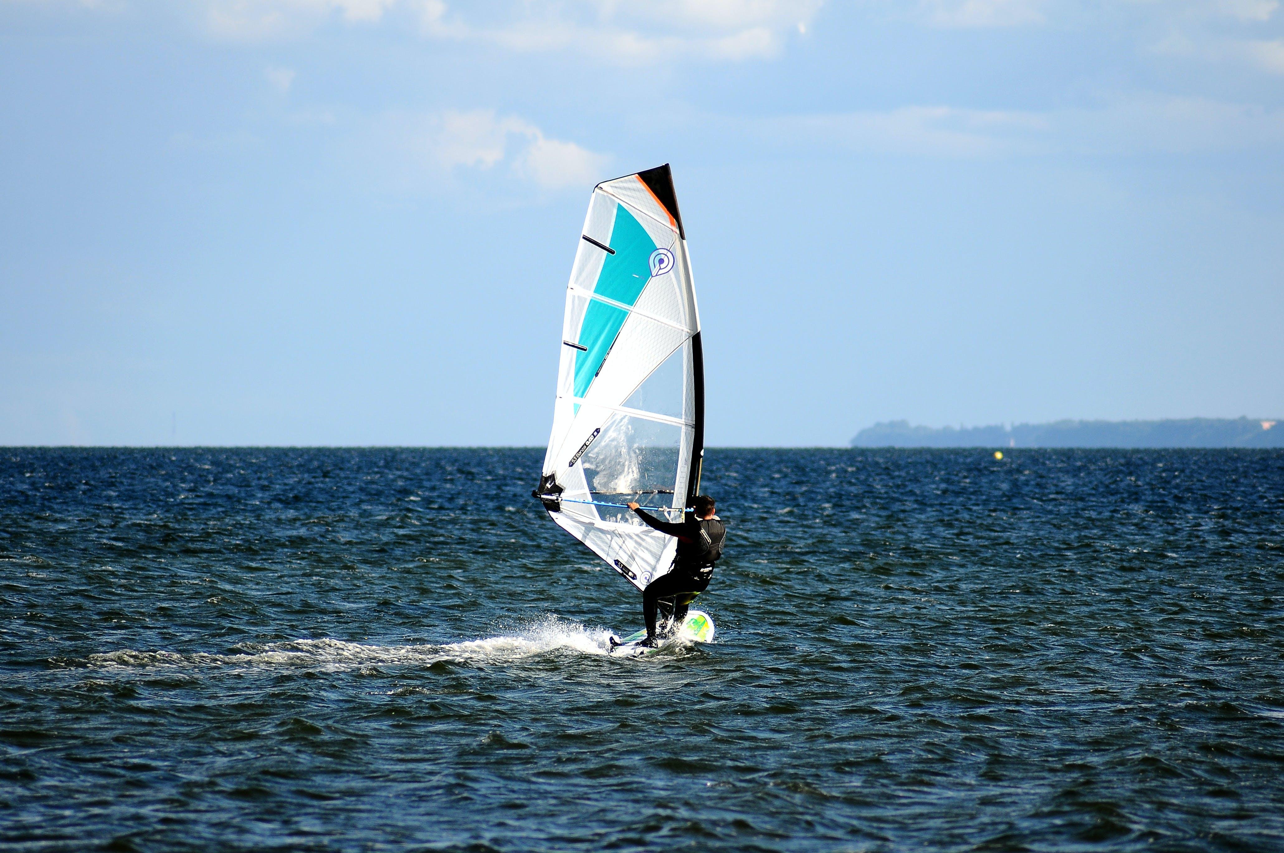 Free stock photo of sea, water, surfer, sailing