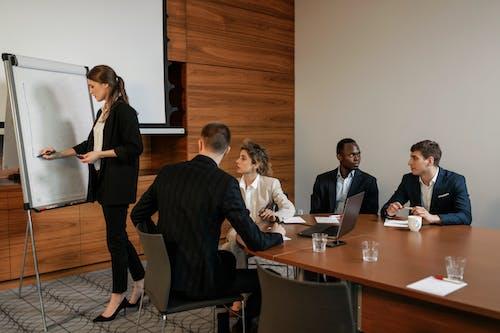 A Woman Doing a Presentation