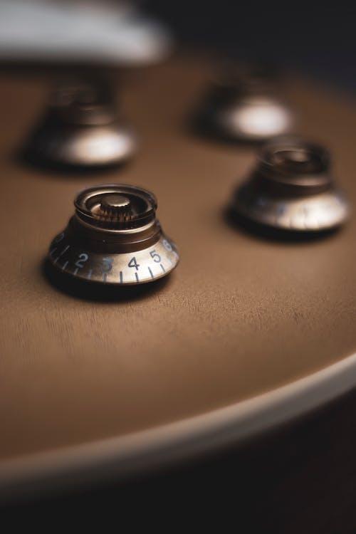 Close-up Shot of Guitar Knobs