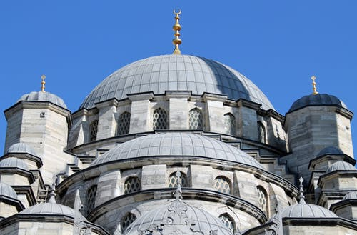 Blue Mosque on a Clear Blue Sky