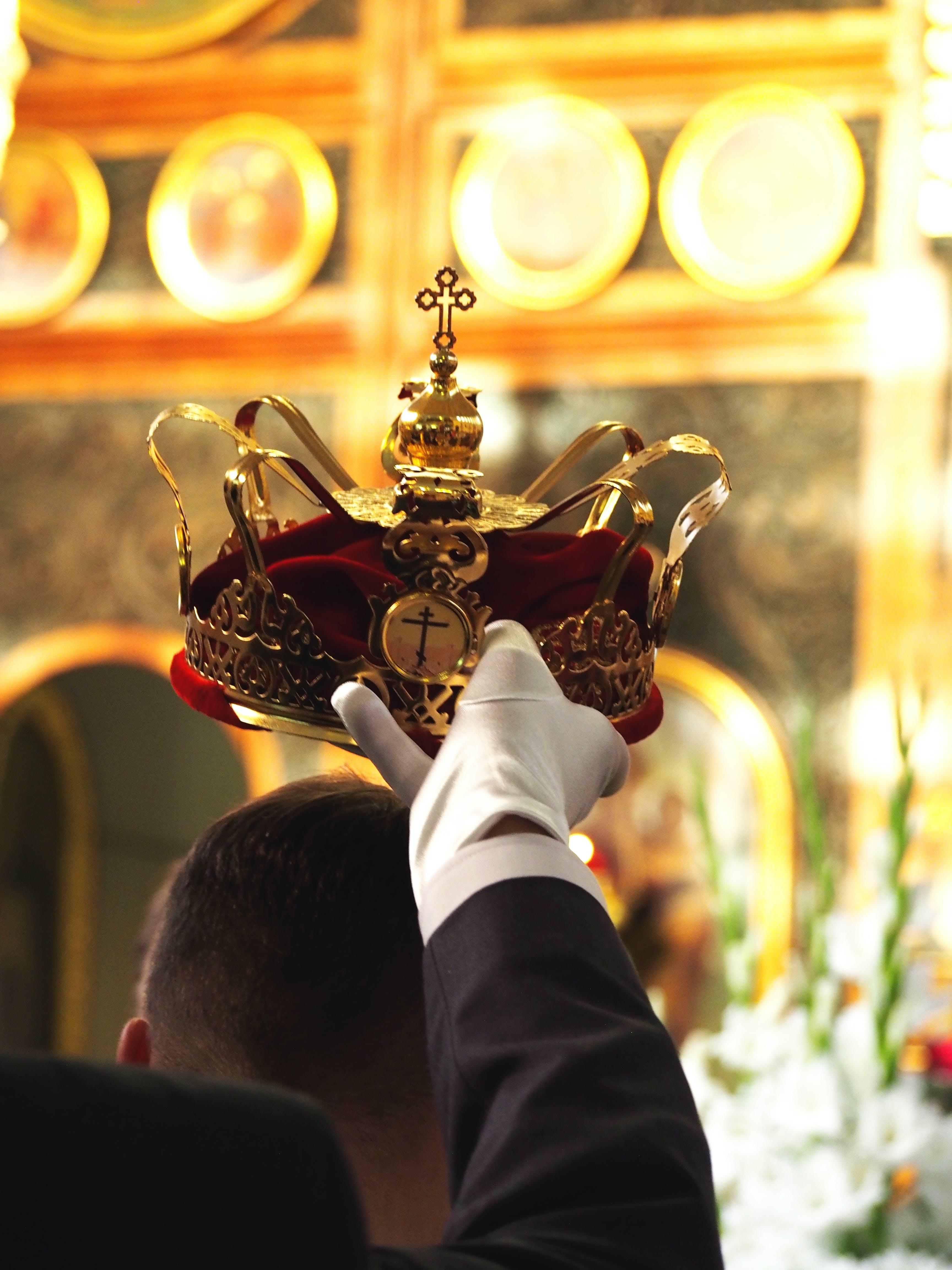 Free stock photo of crown, wedding, tradition, orthodox