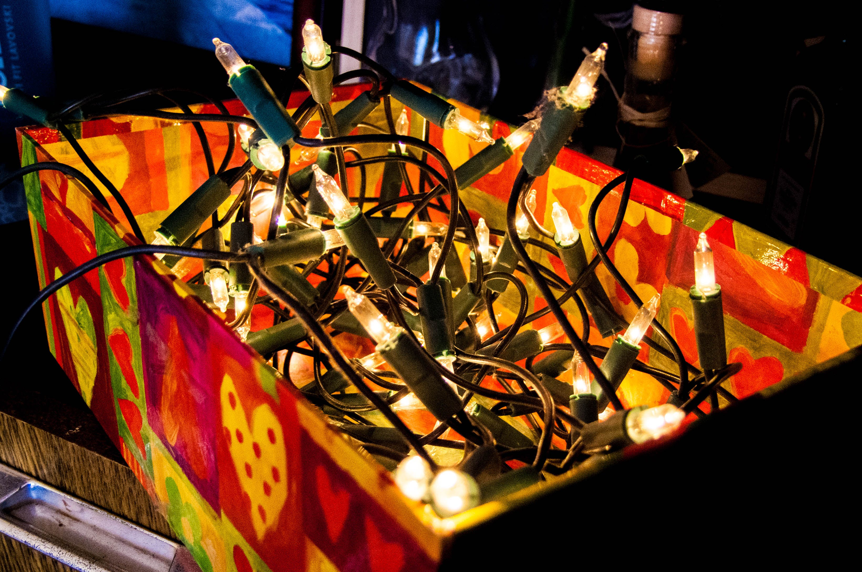 Photo of Orange and Green String Lights