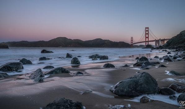 Free stock photo of sunrise, golden gate bridge, bay area, sf
