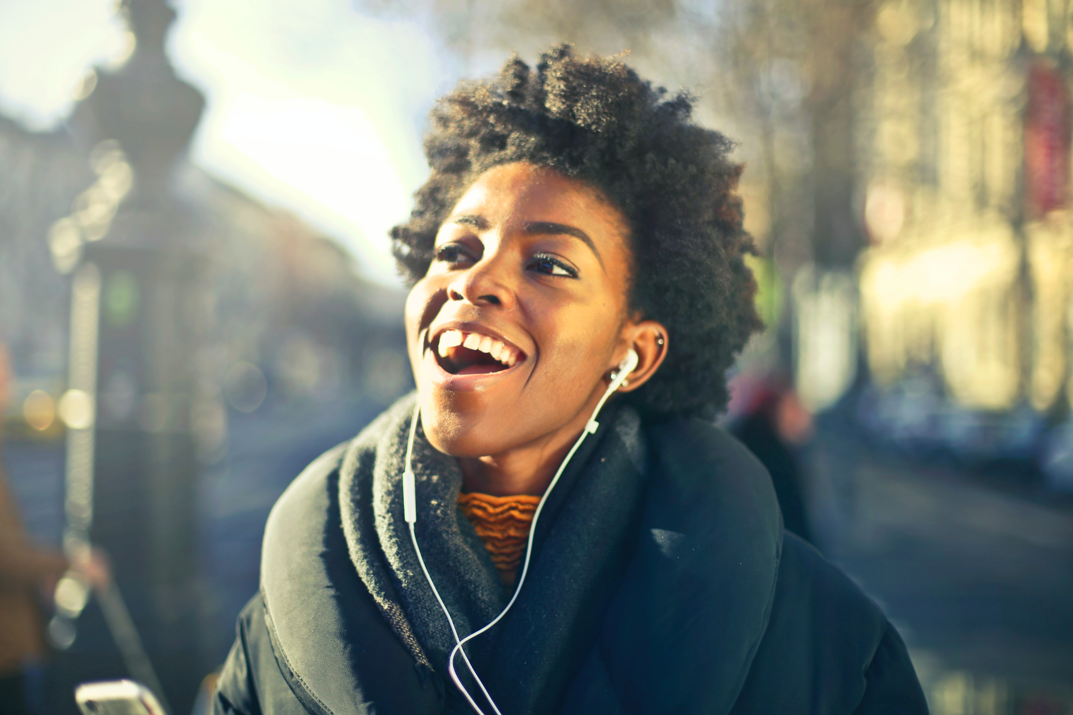 Close Up Photo Of A Woman Listening To Music 183 Free Stock