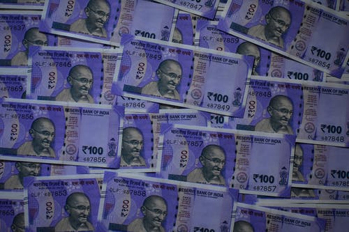 Violet Colored Indian Rupees
