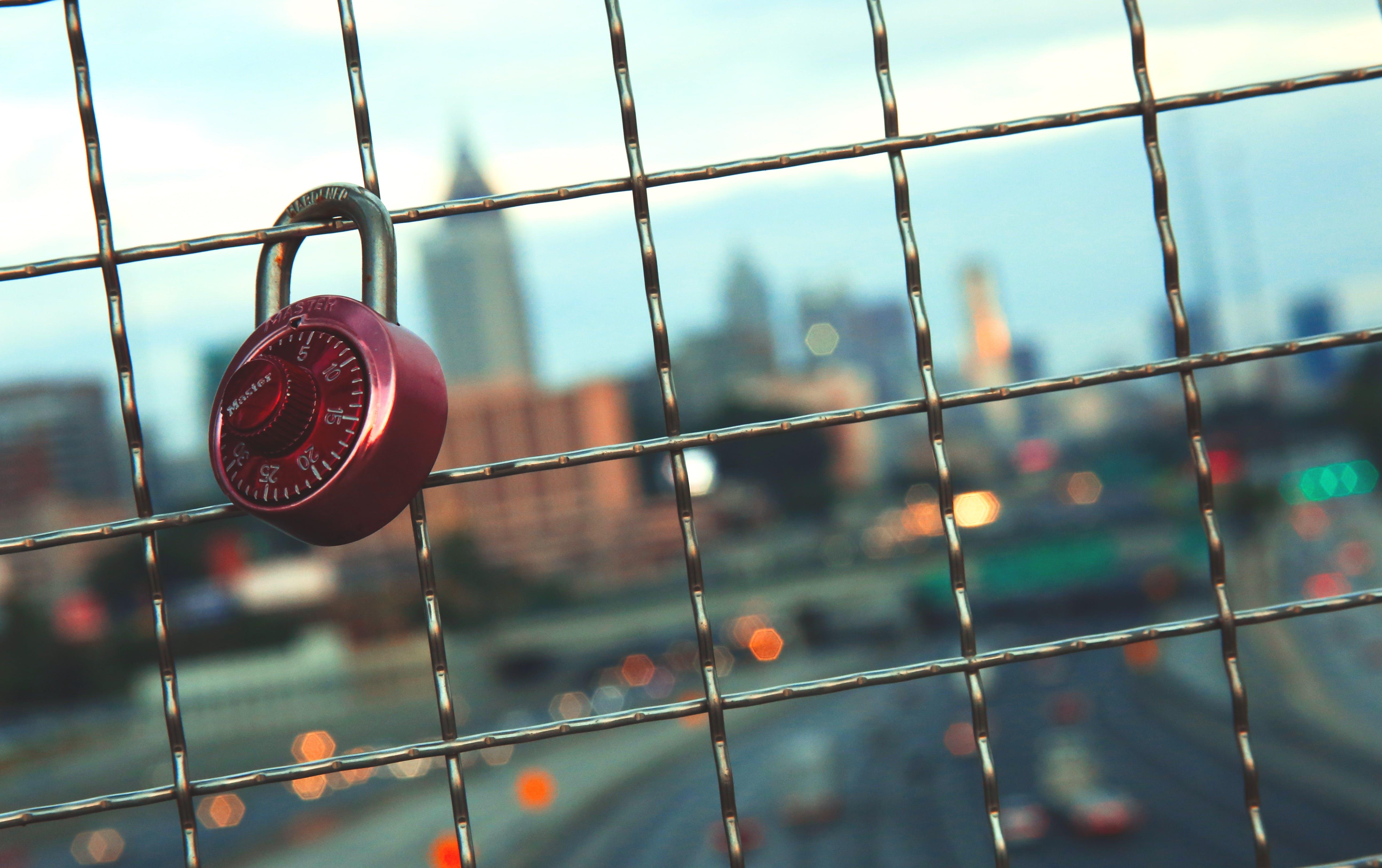 Key on Railings in Shallow Focus Lens