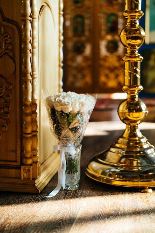 White Roses on Vase