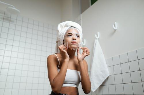 Woman Wearing A Cosmetic Mask