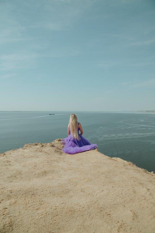 Free stock photo of beach, girl, landscape