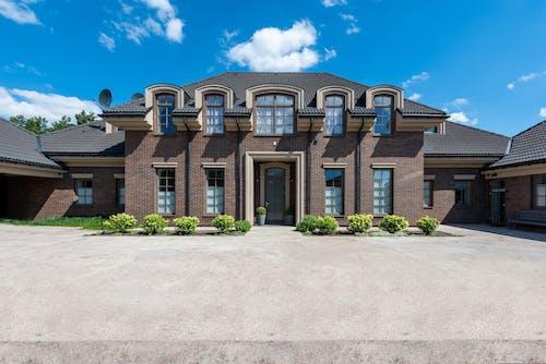A Facade of a Brown House