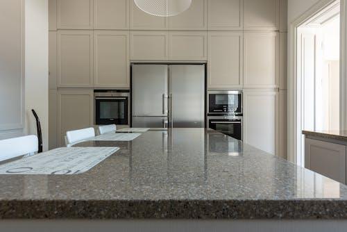 Ilmainen kuvapankkikuva tunnisteilla graniitti, jääkaappi, kaapit