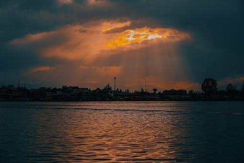 Free stock photo of beautiful sunset, golden sunset, lake