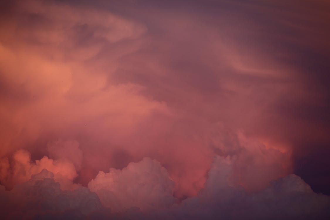 검은 구름, 경치가 좋은, 구름