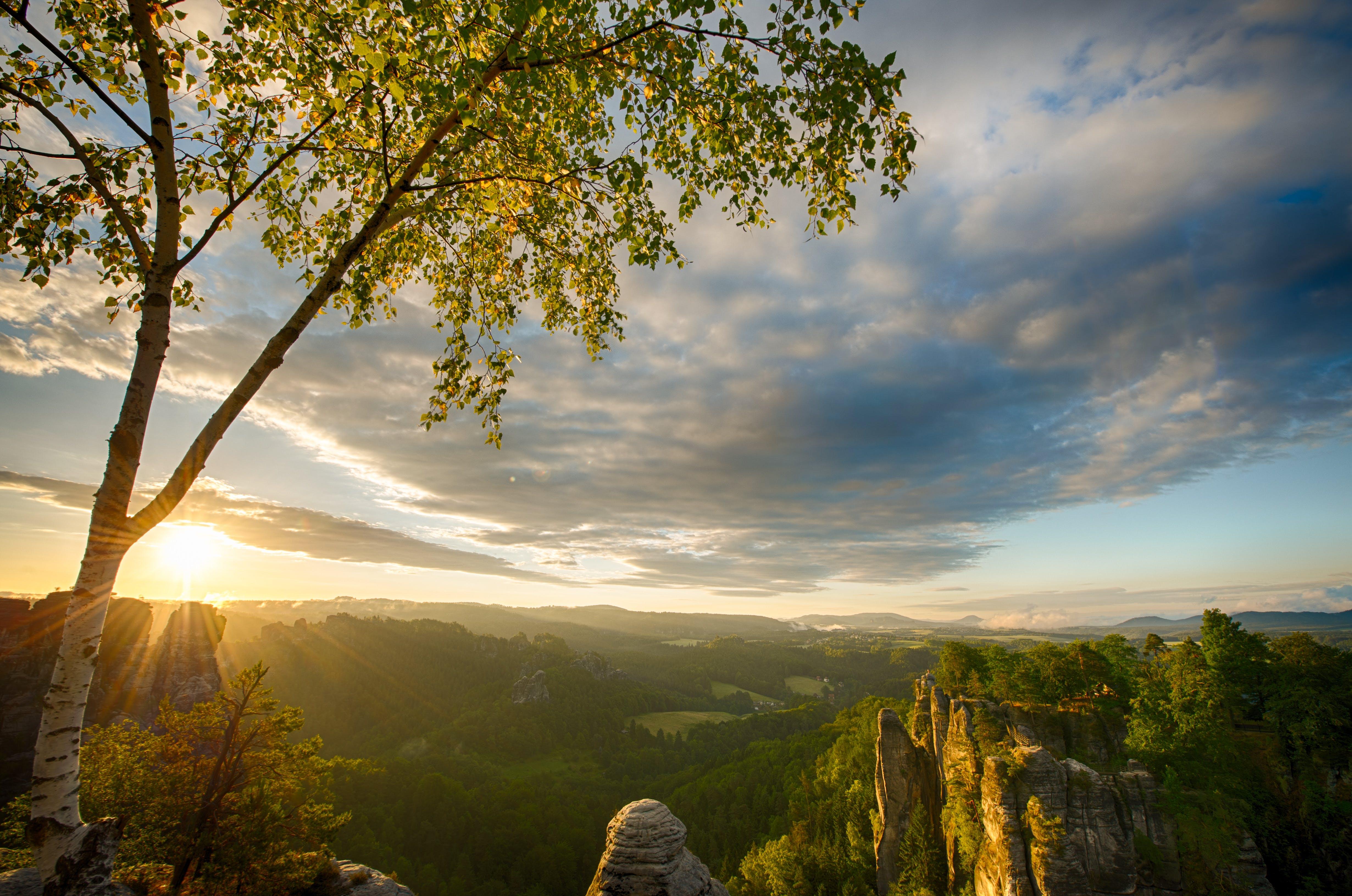 คลังภาพถ่ายฟรี ของ กลางวัน, ดวงอาทิตย์, ตะวันลับฟ้า, ท้องฟ้า