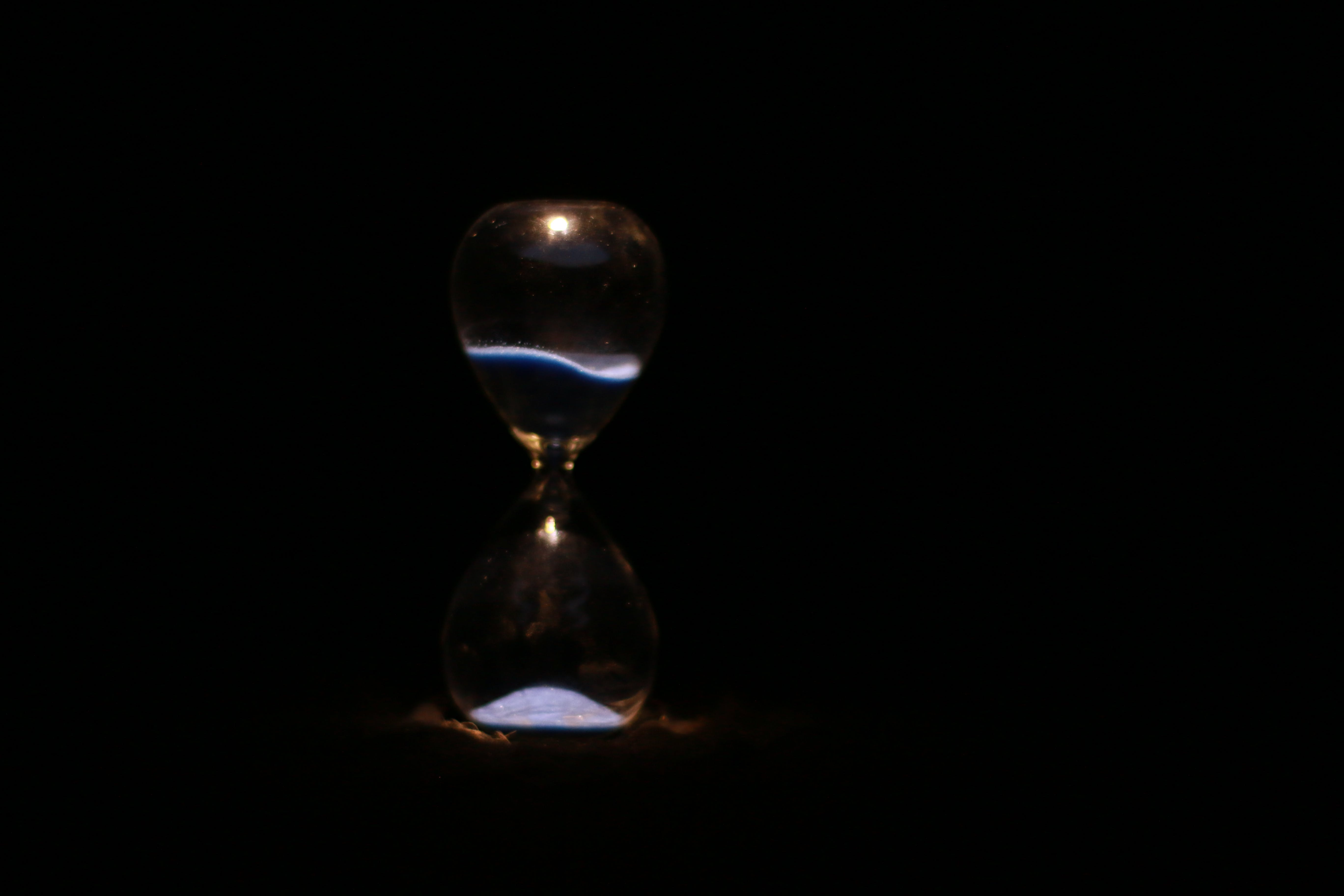 Free stock photo of black, blue, glass, hourglass